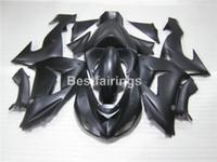 Free customize fairing kit for Kawasaki Ninja ZX10R 06 07 matte black fairings set ZX10R 2006 2007 IU31