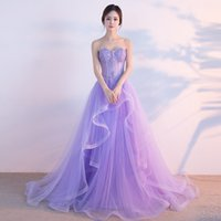 SSYFashion 2017 Sweet Banquet Light Purple Lace Long Evening...