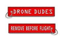 Drone Dudes Supprimer Avant la folie Porte-clés Broderie Personnalisée Tissu OEM Porte-clés 13 x 2.8cm 100pcs Lot