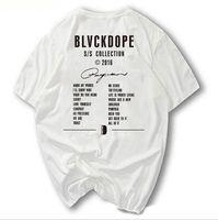 BLVCKDOPE Германия Уличная мода BD тройник Kanye West сезон мужчины футболки хип-хоп Heybig Хабар одежда фарфора размеров скейтборд топы