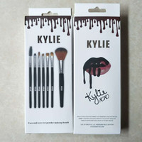 Latest product kylie Makeup brushes Tools Black wooden handl...