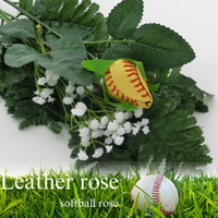 2017 softball yellw beisebol rosa branca cor de couro rosas