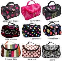 Fashionable Portable Women Cosmetic Bag With Zipper and Mirr...