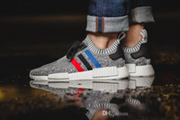 High quality NMD Runner R1 Primeknit PK Tri- Color Red white ...