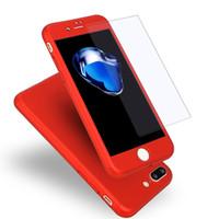 360 전신 보호 아이폰 X XR XS 맥스 8 7 6S 플러스 삼성 S9 S8 플러스 참고 9 8에 대한 강화 유리 화면 보호기와 케이스 커버