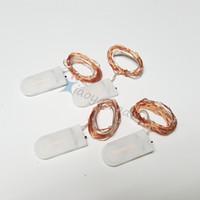 Heiße Verkäufe CR2032 batteriebetriebene 2M 20LEDS Mikro-geführte feenhafte Schnurlicht Kupferdraht-Weihnachtshochzeitsfeiertagsdekorationen DHL geben Verschiffen frei