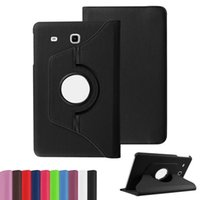 For Samsung Tab E 9. 6 T560 Leather Case Litchi Pattern 360 D...