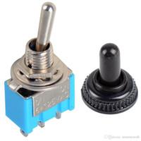 Interruttori a levetta miniaturizzati MTS-102 SPDT a 3 pin blu 1Pc ON-ON Cappuccio impermeabile B00191 JUST