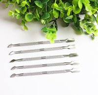 5Pcs Lot 2 In 1 Way Cuticle Spoon Pusher Nail Art tools Remo...
