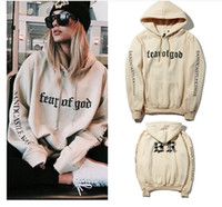 Autumn Winter Lover Hombre y mujer Hip Hop Design Vetements Cooperative Version FEAR OF GOD FOG Patchwork Sudadera con capucha