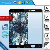 ل Oneplus 5 Full Cover Premium Tempered Glass for One Plus 5 2.5D 9H Screen Protector Film