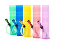 Bongs irrompibles portátiles de 200 mm Shisha Hookah Silicone Fumar Tubos de agua lavable plegable envío gratis por DHL