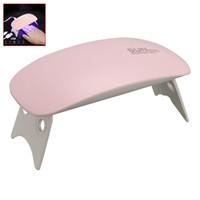 جديد البسيطة 6W الصمام الأشعة فوق البنفسجية مجفف الأظافر علاج ضوء المصباح مع USB المحمولة للأشعة فوق البنفسجية تستند هلام البولندية
