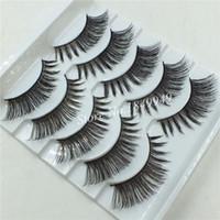 Hot 1 Box 5 Pairs Packaging False Eyelashes Natural Long Winged Thick Messy Fake Eyelashes Cotton Thread Stems Makeup Lashes