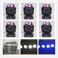 6Xlot flight case led illuminazione della fase rgbw moving head 4in1 7x15w rgbw led beam moving head zoom luce