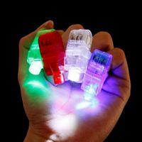 100 unids / lote LED luz del dedo con pilas luces láser KTV Party DJ Bar Danza mostrar decoraciones Kid's children's toys regalos de cumpleaños