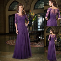 Sheer scoop neck half sleeves mother of the bride dresses 20...