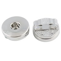 Noosa 18 мм металл Diy Оснастки кнопки выводы слайд для DIY защелками браслеты браслеты ювелирные изделия аксессуары