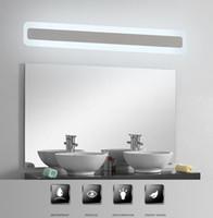 Moderne acrylique salle de bains lumière Miroir de maquillage plomb salle de bain Applique murale à lampe miroir avant éclairage LED antibuée étanche