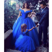 Cinderella Royal Blue Prom Dresses 2019 Ball Gowns Off The S...
