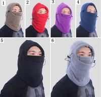 Wholesale snowboard bandana face mask for sale - 12 Color winter warm  Fleece beanies hats for 527ca9b84