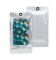 Cassa del telefono del modello della scala dei pesci all'ingrosso per la copertura posteriore del telefono del PC di iPhone 7 7 più dura con il pacchetto Panstic al minuto