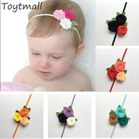 Triple Felt Rose Flower Headband for Kids Baby Girl Christma...