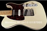 Tienda personalizada EEUU American Deluxe Trans Trans Blanco TL Guitarra eléctrica Punto Diadón Inlay Vino Rojo Tortuga Pickguard Cuerpo Encuadernación