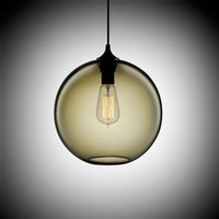 Loft Vintage Antique Industrial 6 Color Glass Ball Pendant L...