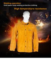 Cowhide электрическая сварка мужской длинный рукав сварка огнезащитный огнезащитный высокотемпературная сварка сервис одежды