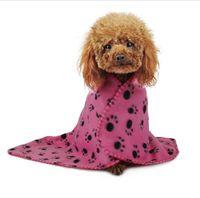 Inverno Pet coperte calde stampe zampa Coperte per pet gatto e cane Morbido caldo pile Coperte Mat pet dog Bed Coperchio 60 * 70 cm