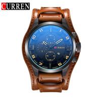 2017 Novo Relógio Curren Marca com Data de Exibição de 8225 Pulseira de Couro de Quartzo Rosto Grande 48mm Homens Relógios Militar Relógio de Pulso Masculino Relógio