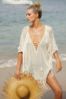 Sexy Beach Cover Ups Free Size Loose Knitted Beach Cover- Up...
