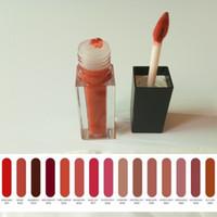 15 couleur liquide rouge à lèvres tube cuboïde brillant à lèvres en forme de coeur brosse à lèvres beauté maquillage brillant à lèvres brillant 50pcs service OEM