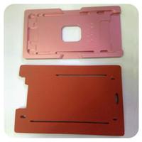 Pour l'iPhone 5 6 7 6S plus Réparation LCD Rénovation en alliage d'aluminium Bezel Cadre avec verre extérieur lentille moule moule pré-assemblé et Pad