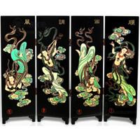 Lo studio di decorazione dello schermo di lacca del vento cinese gli ornamenti di feng shui trasmettono il regalo del cliente di festa per gli amici ed i colleghi