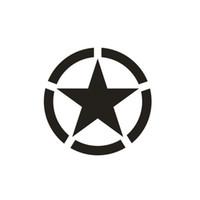 1PC على الطرق الوعرة سيارة جيب رانجلر عاكس السيارات لصق 10CM * 10CM النجمة الخماسية نمط السيارات لصق سيارة ملصق السيارات لصق CA-3003