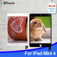 iPad 미니 4 터치 스크린 LCD 완전한 오리지널 LCD 터치 스크린 LCD 완전한 어셈블러 블랙 화이트 DHL 무료 배송