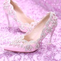 New Women Pumps Crystal Wedding Shoes 2017 Elegant Ladies Po...