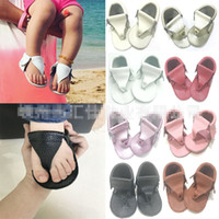 Baby Sandals Flip- flops Genuine Leather Non- slip Breathable ...