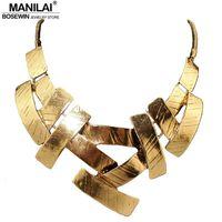 dhgate Vintage Bib Choker Collana Donna Croce in metallo ciondolo catena a serpente Maxi collare dichiarazione gioielli accessori moda