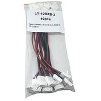 10sets 3-polige RGB-Artikel LED-Leuchten von 5050 Kostenlose Schweißnahtkarte Schnalle Schnurdoppelstecker 10 mm