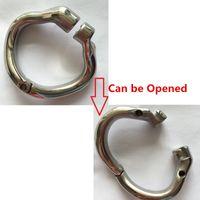 Новое поступление открыть рот Оснастки кольцо из нержавеющей стали целомудрие устройство петух кольцо для мужчин 2019 Новый целомудрие петух клетка
