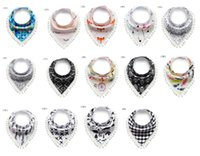 14 designs Baby Bibs Bandana 100% Cotton Double Layers Drool...