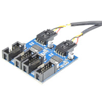 Embase USB 9 broches Mâle 1 à 2/4 Femelle Câble d'extension Carte Bureau HUB USB 9 broches USB 2.0 Connecteur Adaptateur Port 9 ports Multilier