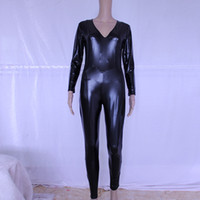 Hot Sexy Black Catwomen Jumpsuit Spandex Latex Zentai Catsui...