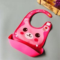 Baby Bibs Kids Girls Boys Waterproof Silicone Bib Cute Anima...