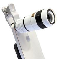 الهاتف المحمول العالمي تلسكوب 8X التكبير عدسة اللون الأسود للهواتف النقالة الهواتف الذكية