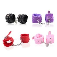 Wrist and Ankle Handcuffs Fuzzy Leather Furry Flirting Bed R...