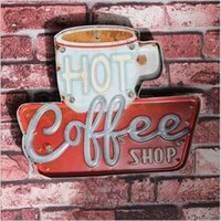 2017 Coffee Shop Vintage Neon Sign Decorative painting LED m...